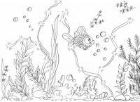 Трафареты, шаблоны, роспись по стеклу, витраж, аквариум, рыбы, море, рыбки,ракушки, морской сюжет, роспись