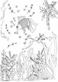 Трафареты, шаблоны, роспись по стеклу, витраж, аквариум, рыбы, море, ракушки, морской сюжет, роспись
