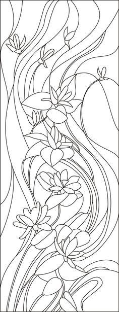 Шаблоны витражей | витражи своими руками, вьющиеся цветы
