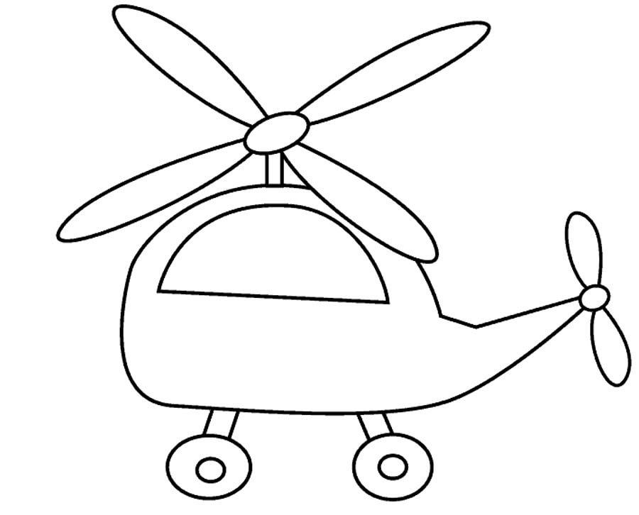 раскраски для мальчиков возраст 4 года вертолетик игрушка