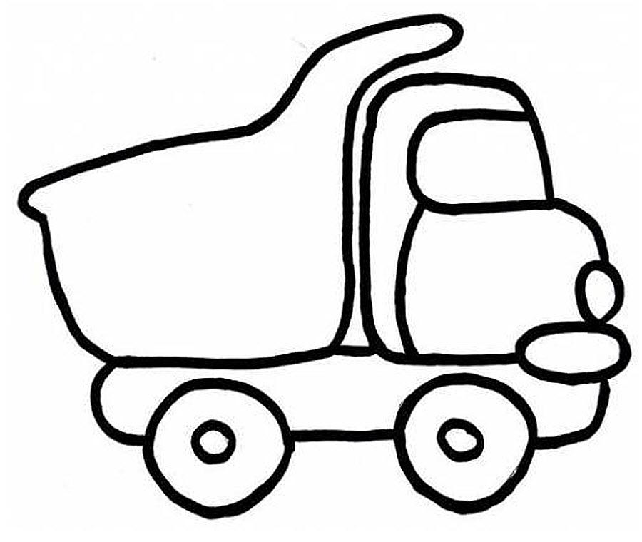 раскраски для мальчиков возраст 4 года грузовичек игрушка