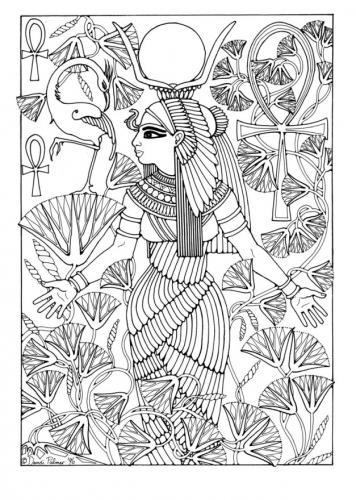Витражная роспись, египет