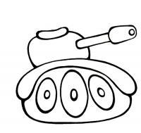 Раскраски для мальчиков - возраст 4 года, танк