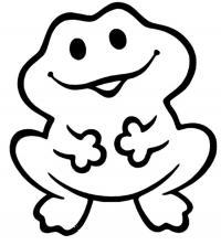 Раскраски для мальчиков - возраст 4 года, лягушка