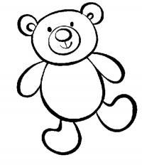 Раскраски для мальчиков - возраст 4 года, медвежонок