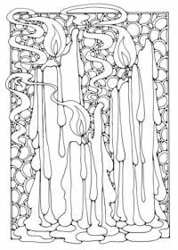 Рисунки для витражей, тающие свечи