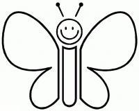 Раскраски для маленьких. бабочка