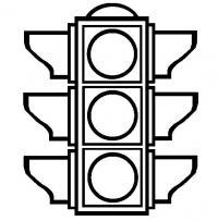 Раскраска детям светофор