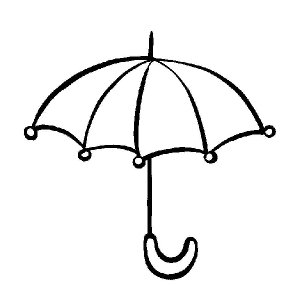 Скачать или распечатать раскраску распечатать скачать, зонтик