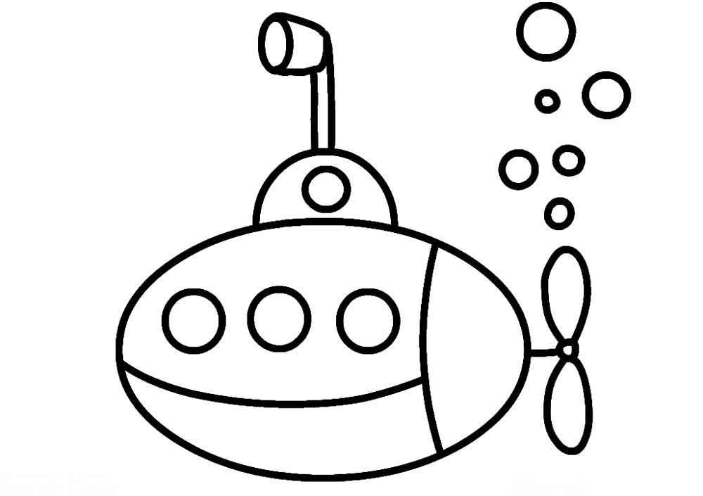 Скачать или распечатать раскраску распечатать скачать, подводная лодка