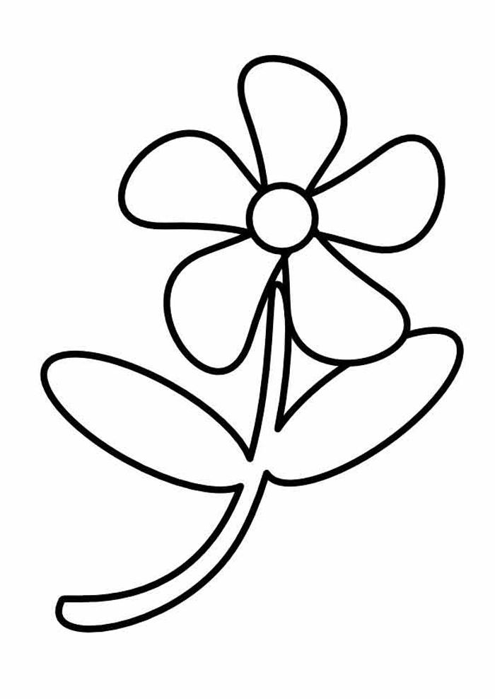 Раскраски для маленьких детей - цветы.