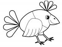 Скачать или распечатать раскраску распечатать скачать, птица с хохолком