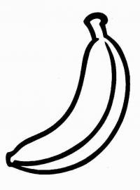 Распечатать раскраску для самых маленьких, банан