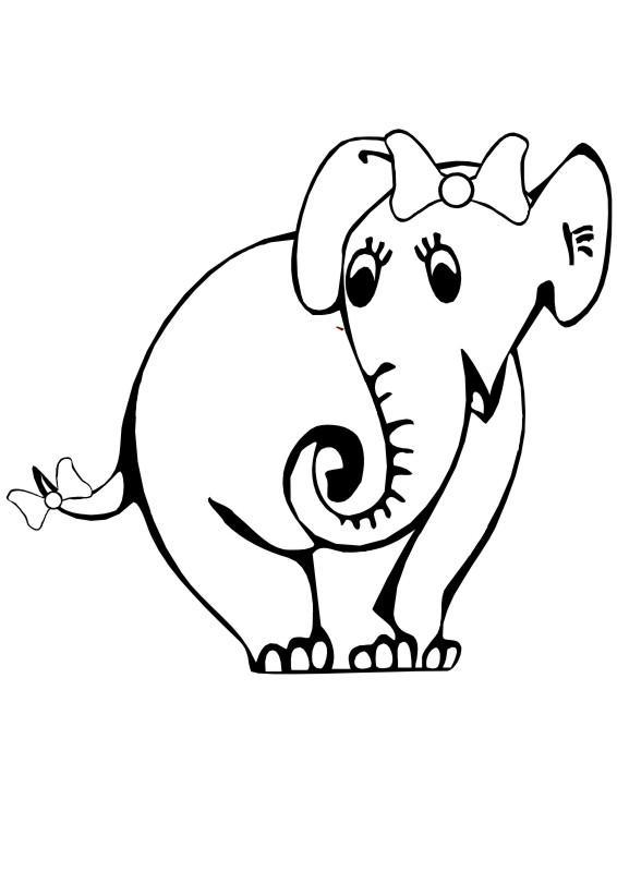 Раскраска слоненок.