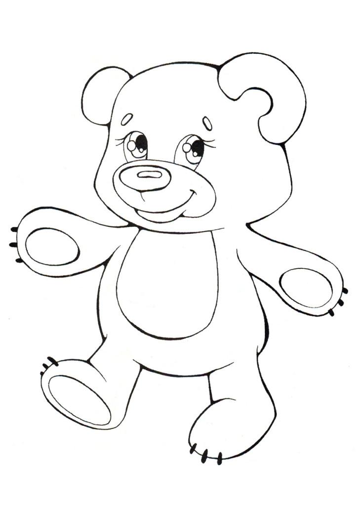 Картинка Раскраска Медведя Для Детей