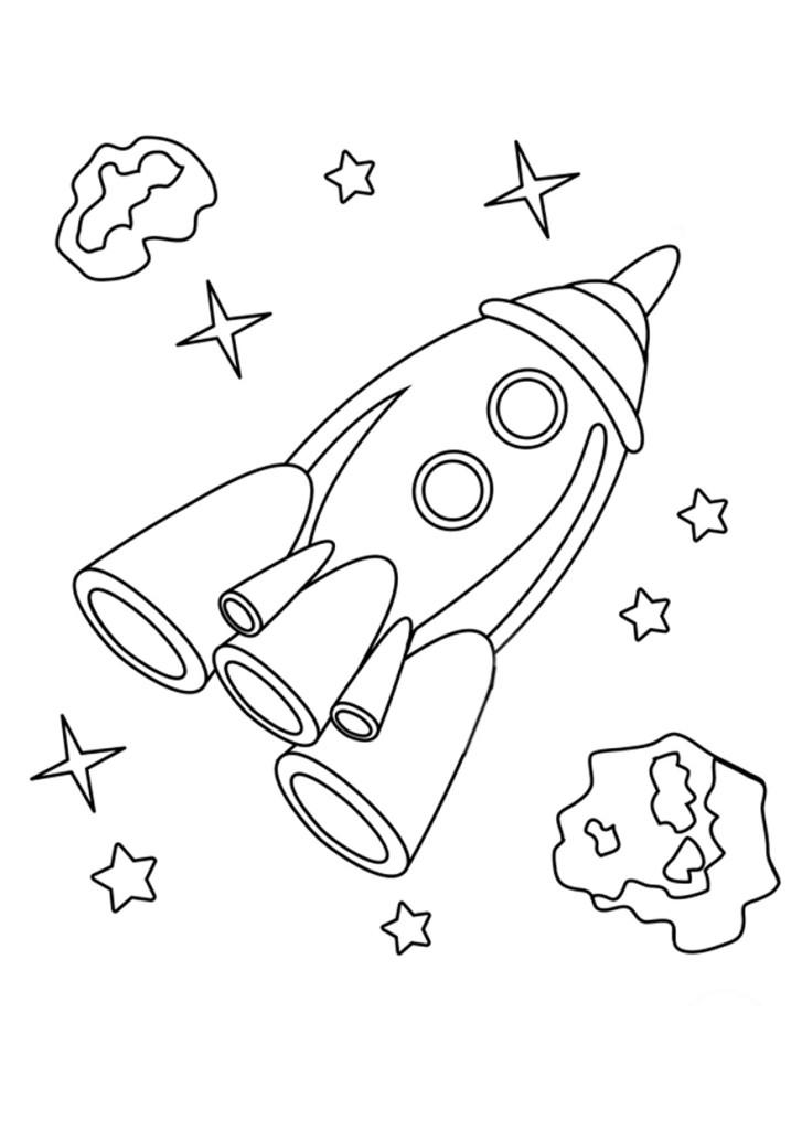 Раскраски для малышей скачать бесплатно, распечатать, ракета