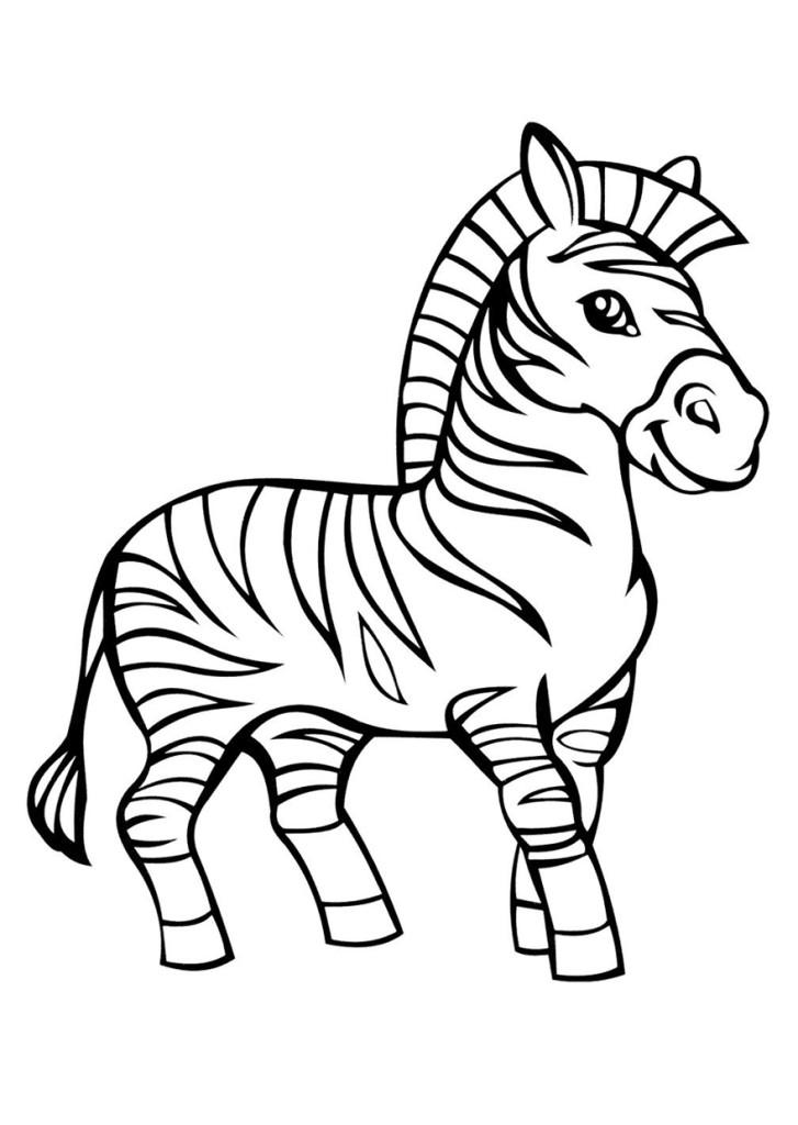 Раскраска для детей, раскраска для девочек, раскраска для мальчиков скачать бесплатно, распечатать, зебра