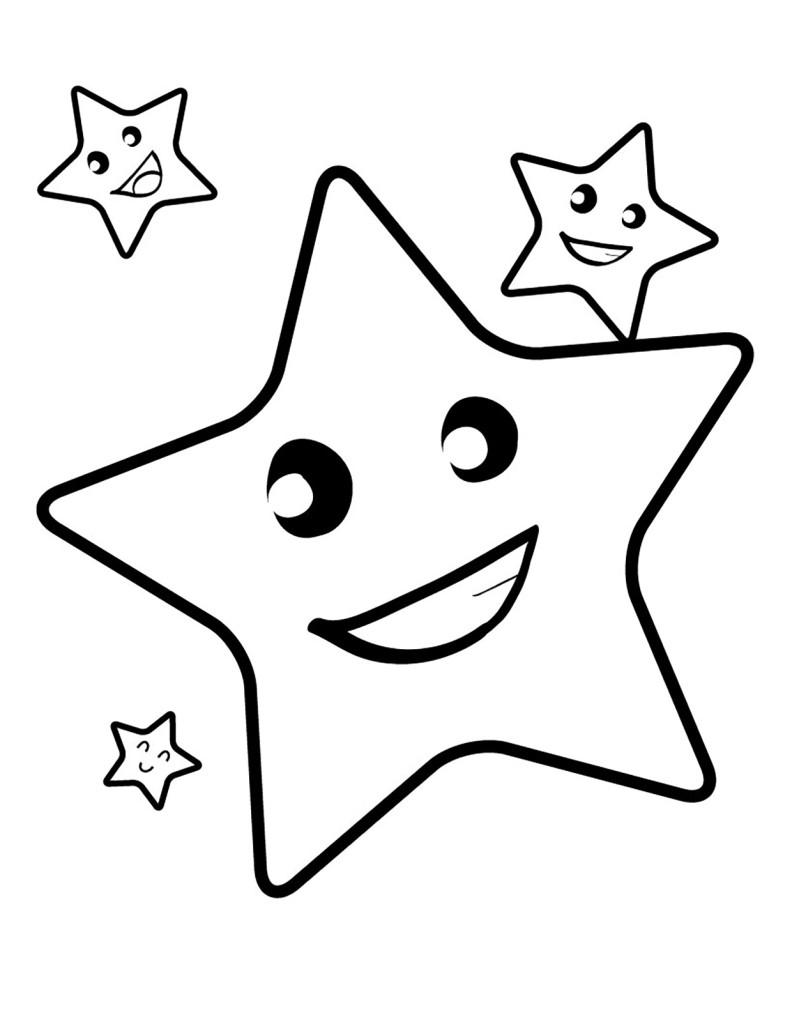 Раскраска для детей распечатать бесплатно, звезды