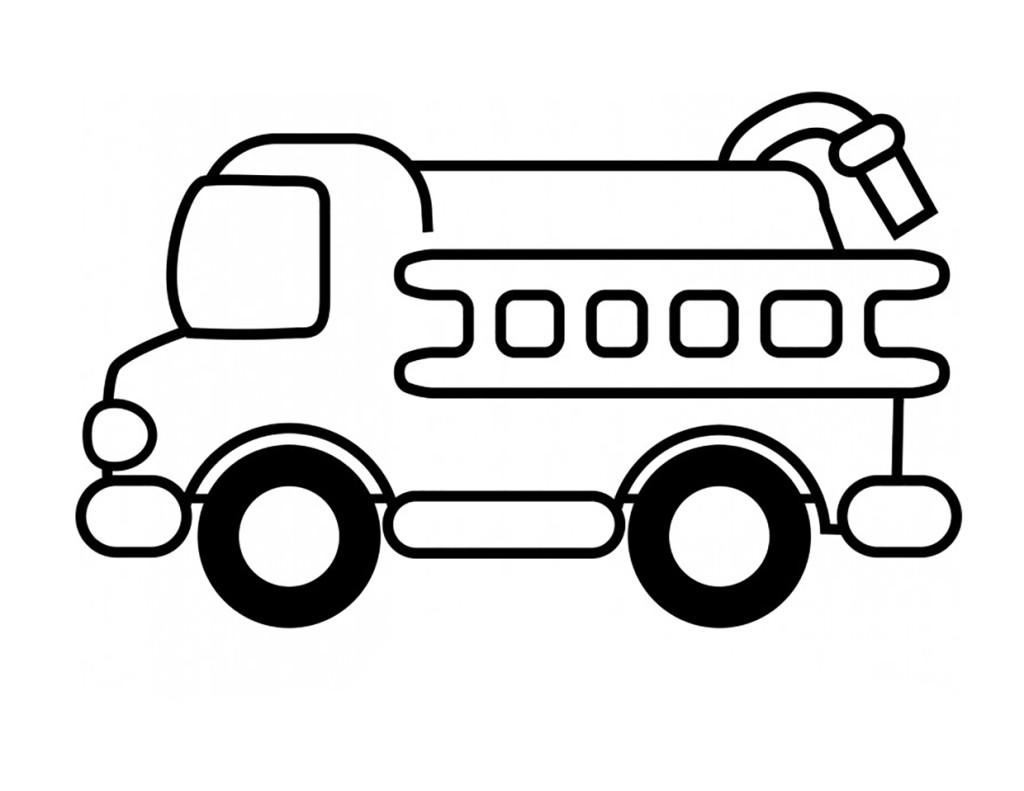 Раскраска для мальчиков распечатать бесплатно, пожарная машина