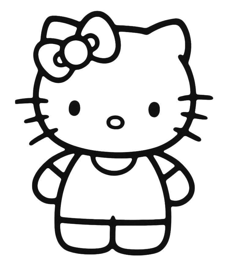 Раскраски простые раскраски для малышей китти