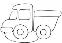 Раскраска для малышей скачать бесплатно, распечатать, грузовик