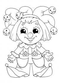 Раскраска для малышей скачать бесплатно, распечатать, петрушка