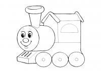 Раскраска для малышей скачать бесплатно, распечатать, поезд