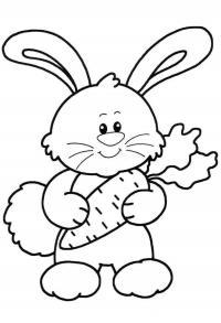 Раскраски простые раскраски для малышей детская раскраска зайка с морковкой