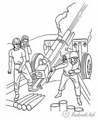 Раскраски победы раскраски к 9 мая день победы детские, солдаты, артилерия