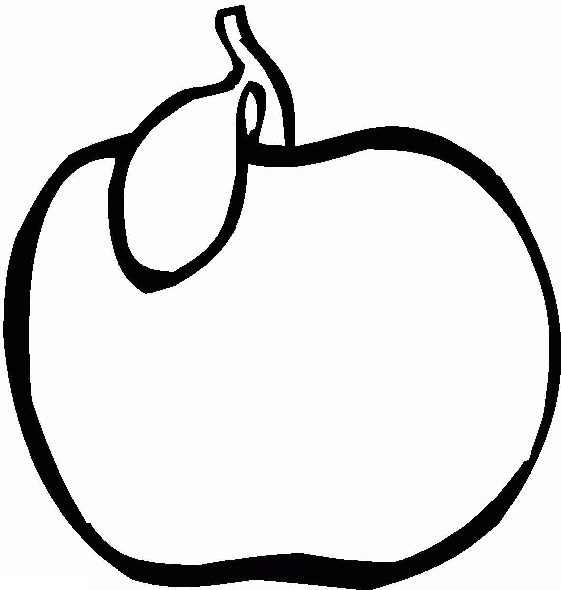 Раскраски фруктов - яблоко