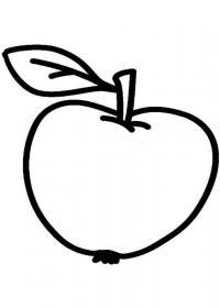 Скачать или распечатать раскраску распечатать скачать, яблоко
