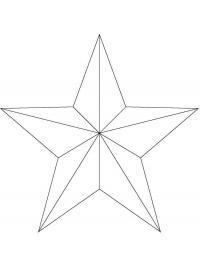 Раскраска звезда к 9 мая