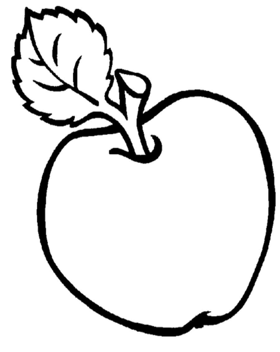 Раскраски для малышей - яблоко
