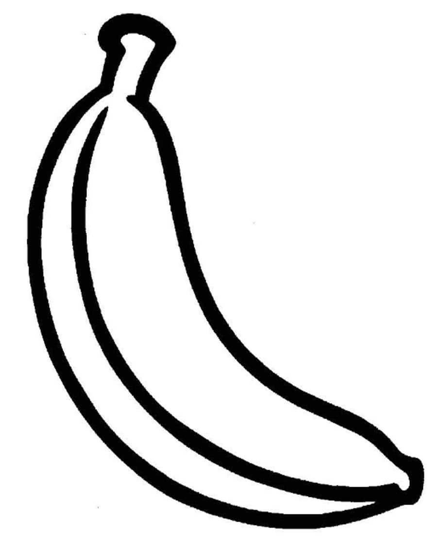 Раскраски для малышей - банан