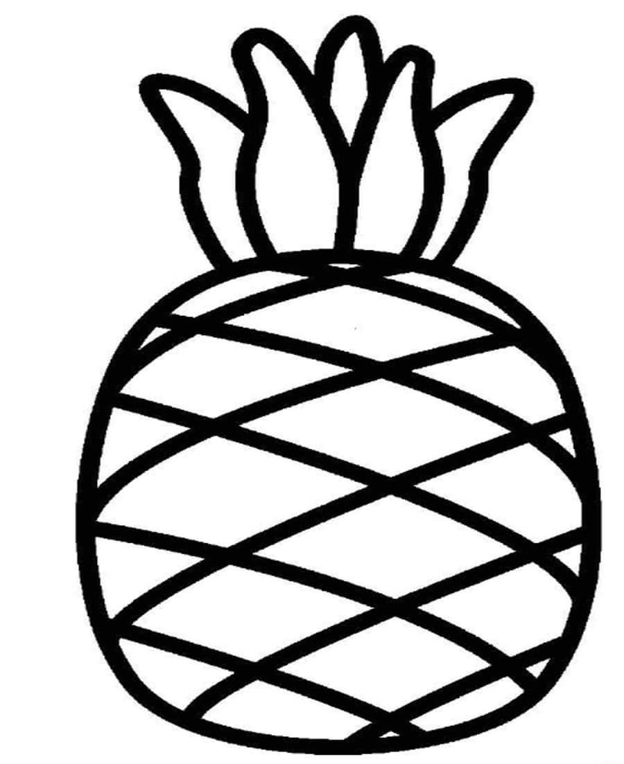 Раскраски для малышей - ананас
