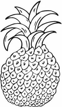 Детские раскраски фрукты, ананас