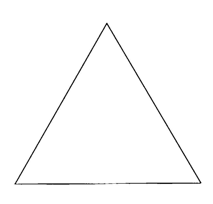 Раскраски геометрические фигуры из бумаги треугольник контур для вырезания из бумаги