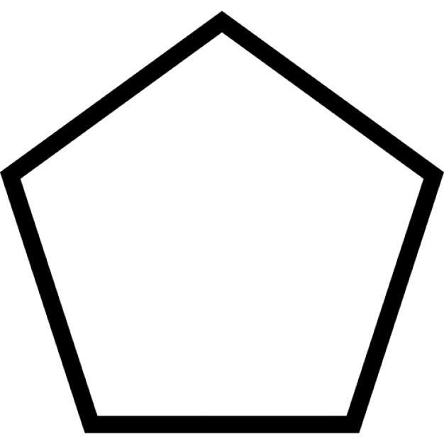 Раскраски геометрические фигуры из бумаги пятиугольник контур для вырезания из бумаги