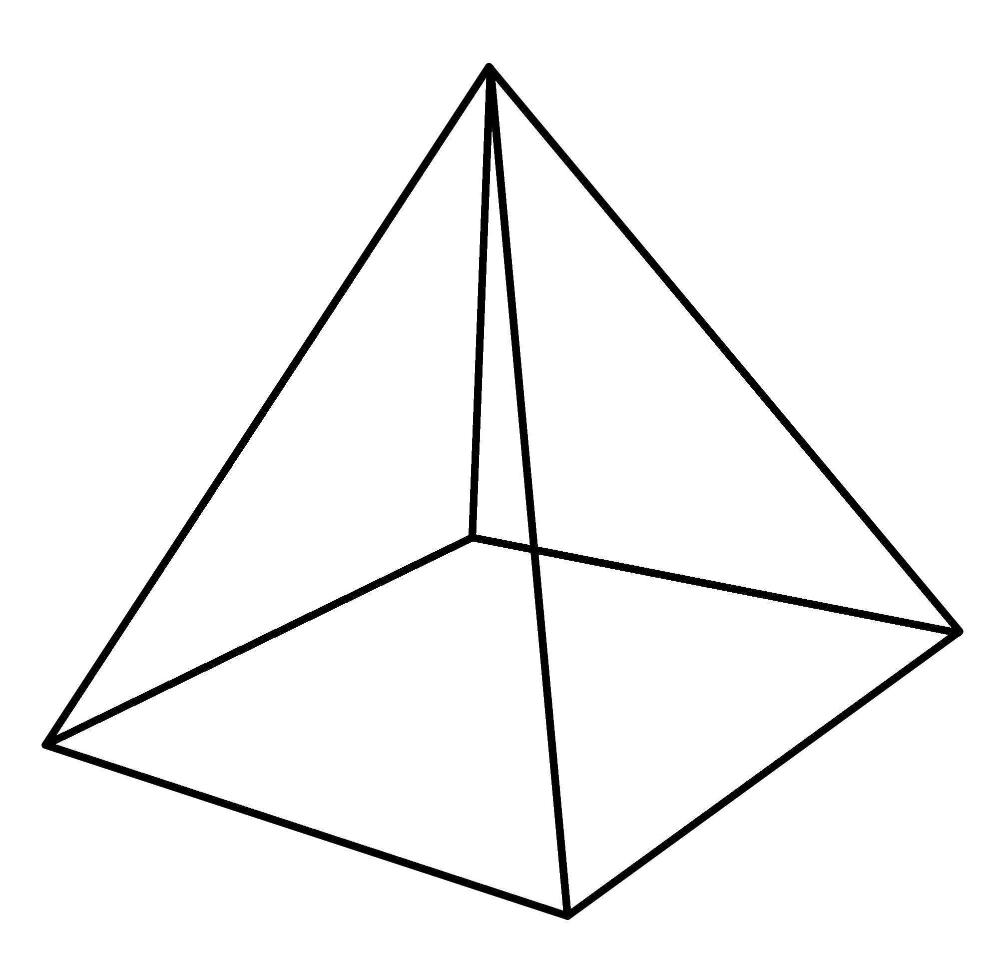 Раскраски геометрические фигуры из бумаги пирамида макет ...