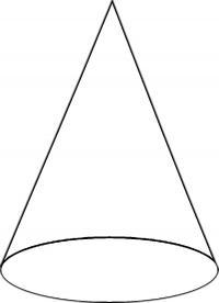 Раскраски геометрические фигуры из бумаги конус шаблон для вырезания из бумаги, контур для вырезания
