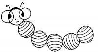 Раскраски фигуры геометрические фигуры, раскраска, гусеница