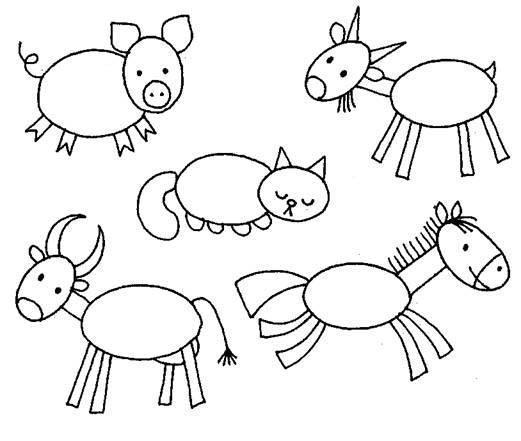 Раскраски раскрась геометрические фигуры животные из геометрических фигур