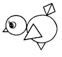 Раскраски раскрась геометрические фигуры птенец геометрические фигуры раскраска