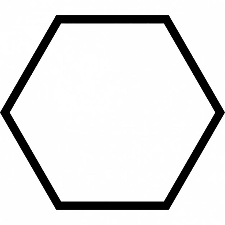 Раскраски фигуры шестиугольник контур для вырезания из бумаги