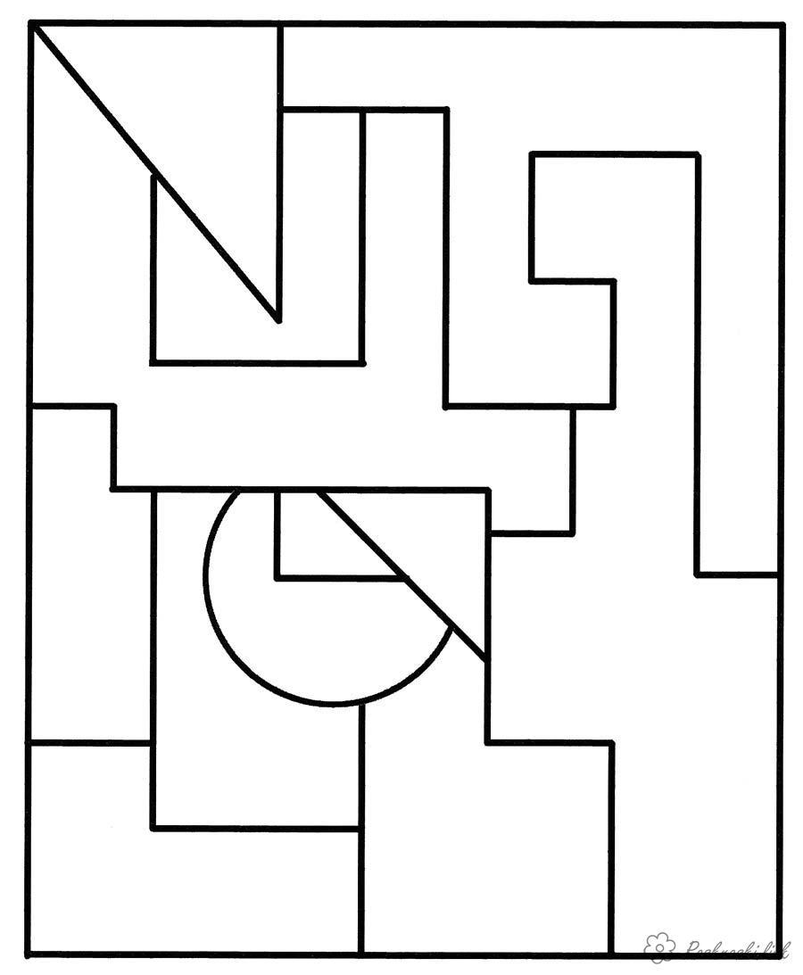 Широкий контур Раскраски раскрась геометрические фигуры геометрические фигуры, раскраска Раскраски распечатать