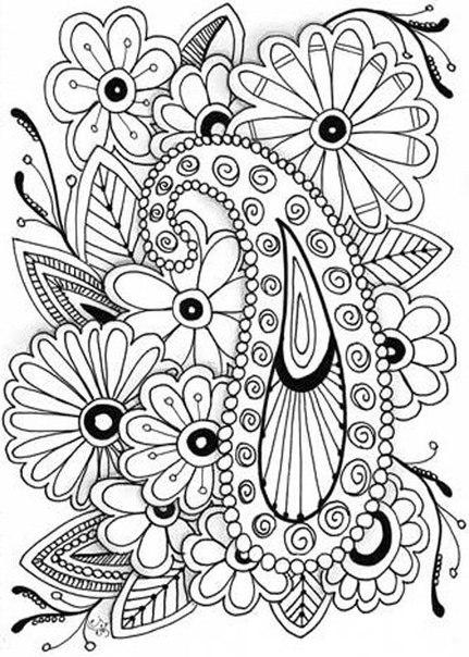 Раскраски антистресс. цветы