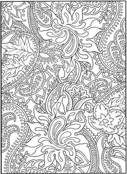 Раскраски для взрослых узор из цветов