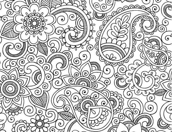 Узор Раскраска антистресс цветы узоры Раскраски распечатать