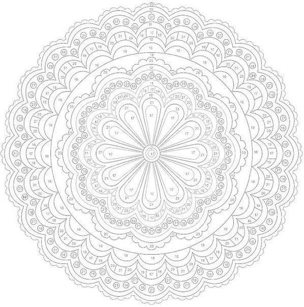 раскраски для взрослых с эффектом антистресс круг с цветком