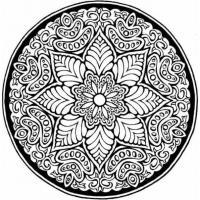 Раскраски антистресс. цветы в узоре